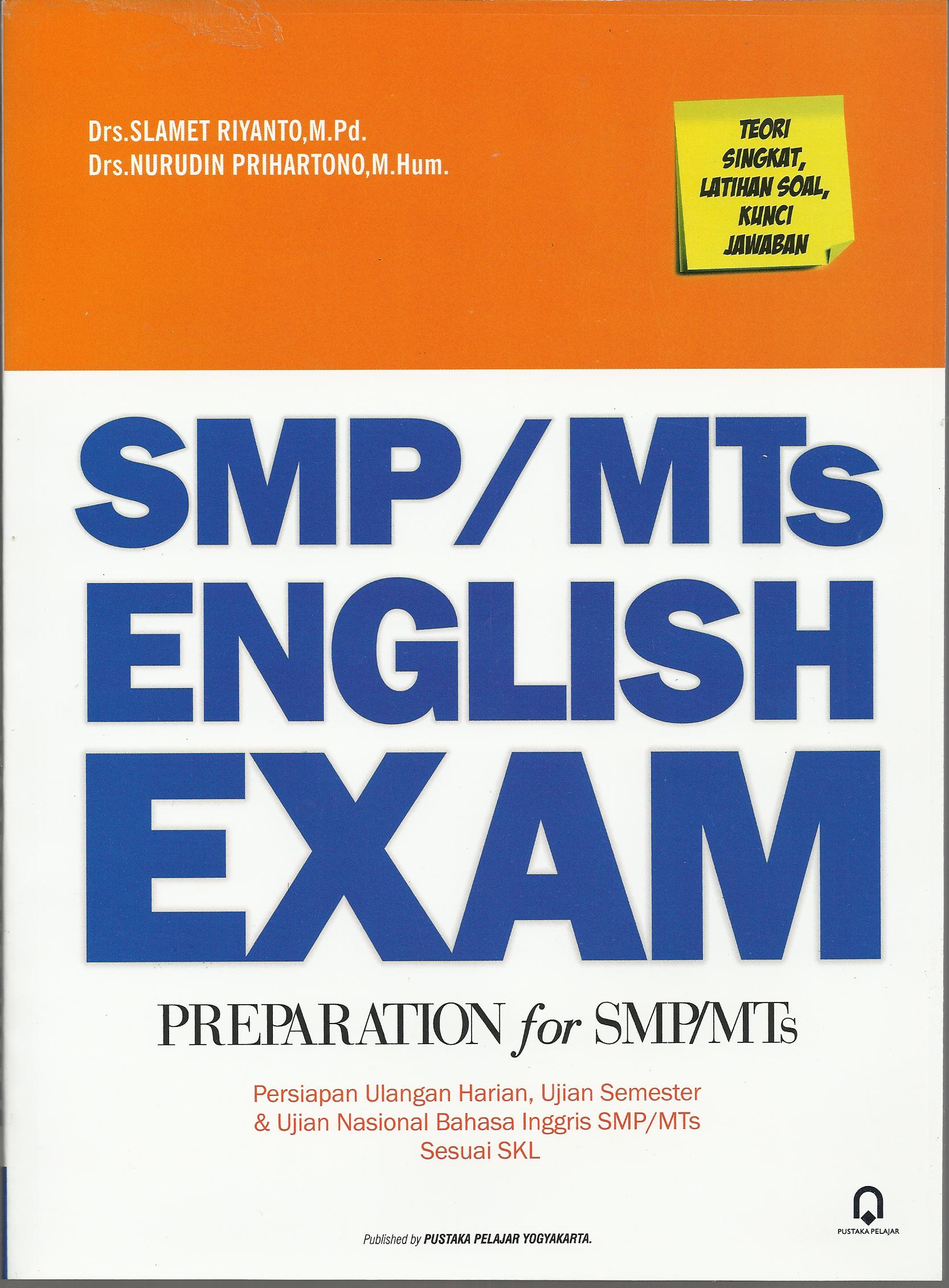 SMP / MTs  English Exam Preparation for SMP/MTs