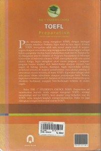TOEFL PREPARATION  TEST OF ENGLISH AS A FOREIGN LANGUAGE 002