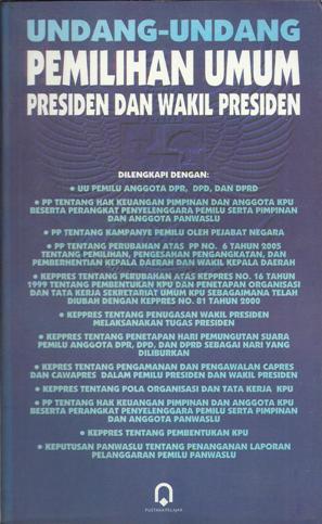 UU Pemilu Presiden dan Wakil Presiden,