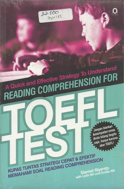 Reading Comprehension for Toefl test
