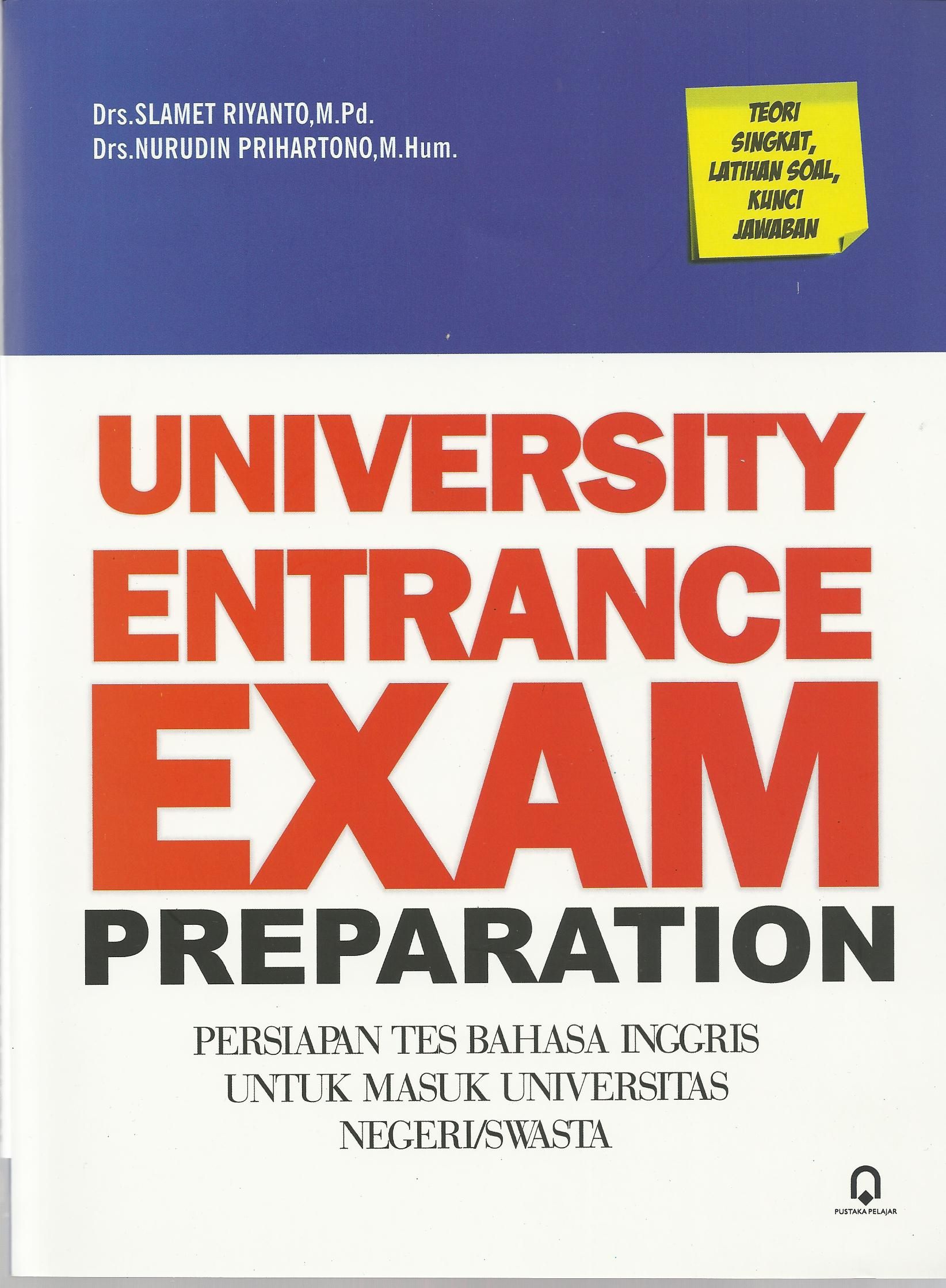University Entrance Exam Preparation